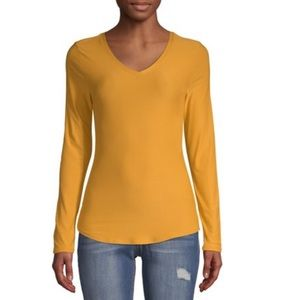 No Boundaries Juniors Long sleeve v-neck T-shirt